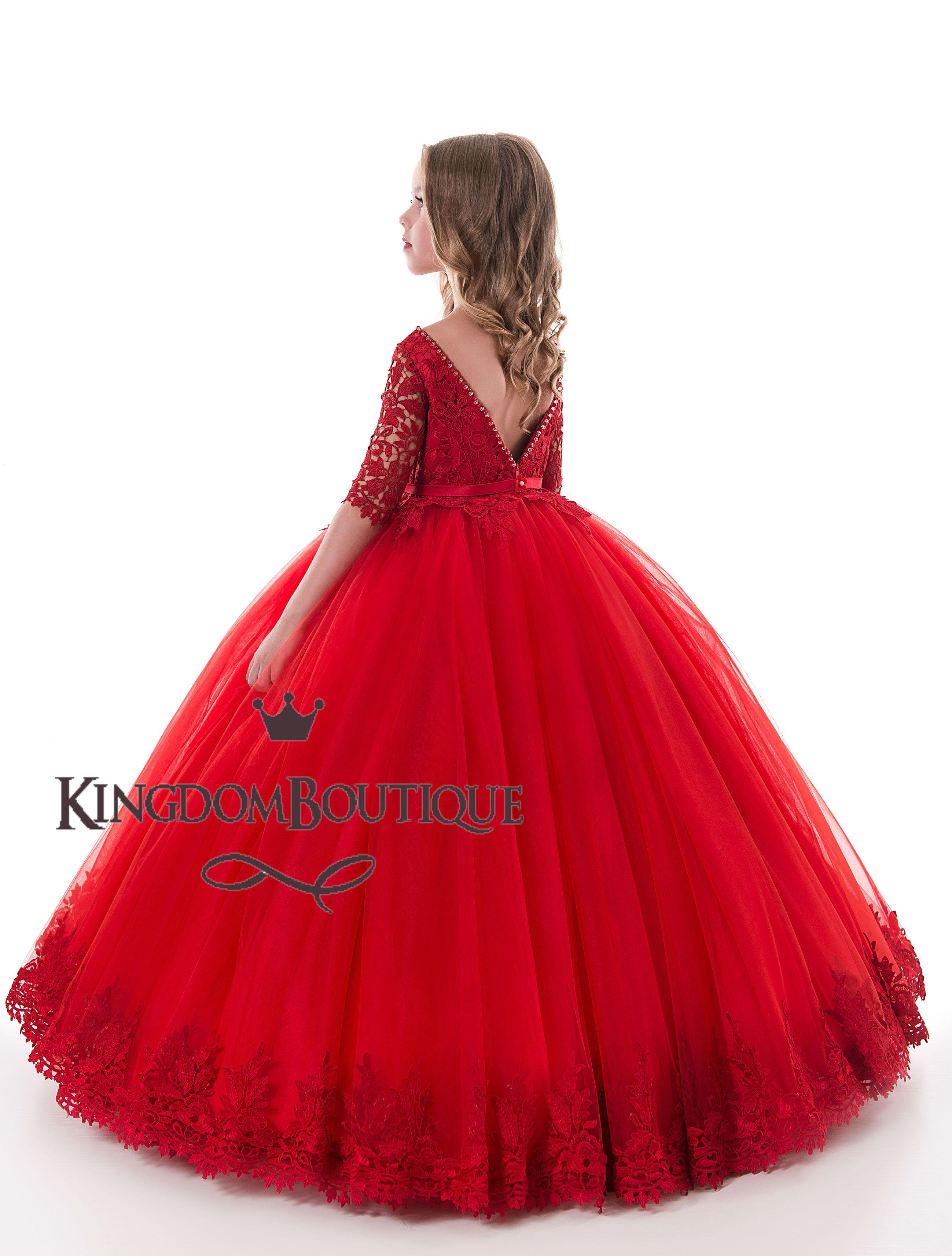 Flower Girl Dress 17 0311 Kingdom Boutique